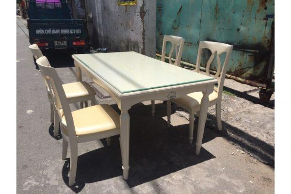 Thanh lý bộ bàn ăn cũ 4 ghế hàng Vip giá rẻ