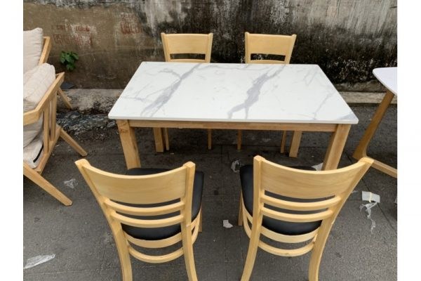 Thanh lý bộ bàn ăn cũ 4 ghế giả đá giá rẻ