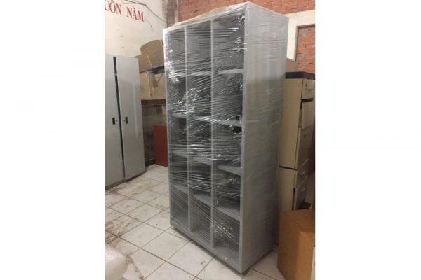 Thanh lý kệ đựng sơ cũ 15 ngăn bằng sắt