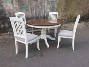Thanh lý bộ bàn ăn cũ 4 ghế gỗ xuất khẩu