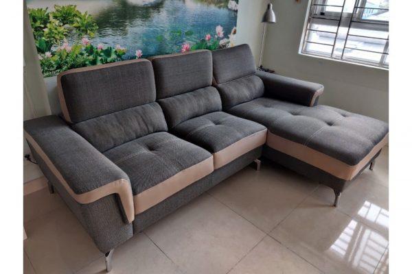 Thanh lý Bộ sofa góc L bọc vải cũ giá rẻ