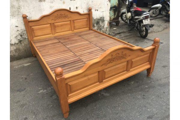 Thanh lý giường cũ 1m6 gỗ xoan đào HAGL Mã GC43