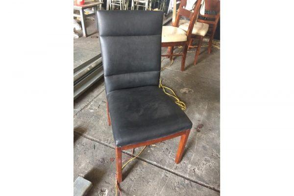 Thanh lý ghế gỗ bọc da lưng cao giá rẻ