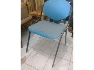 Thanh lý ghế 4 chân sắt cũ màu xanh giá rẻ