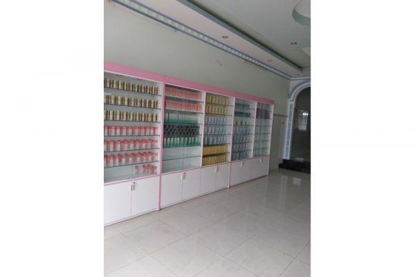 Đóng mới mẫu tủ trưng bày mỹ phẩm theo yêu cầu