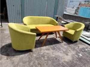 Thanh lý bộ sofa cũ màu xanh SF03 giá rẻ