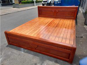 Thanh lý giường phản cũ gỗ xoan đào 1m8 x 2m