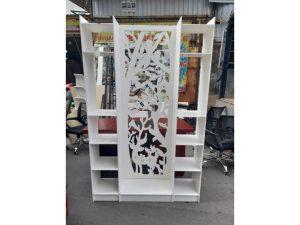 Thanh lý kệ trưng bày cũ màu trắng mẫu đẹp