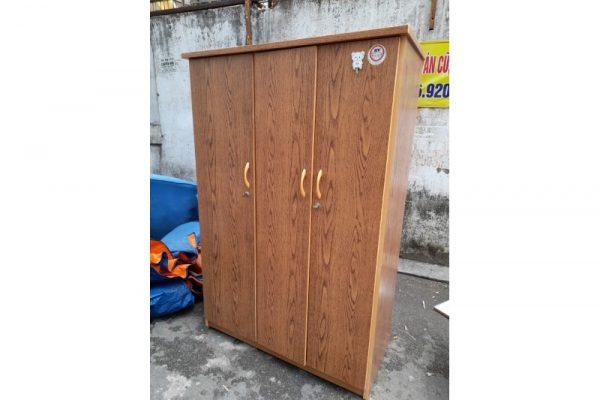 Thanh lý Tủ quần áo 3 cánh có gương cũ giá rẻ - TQAC21