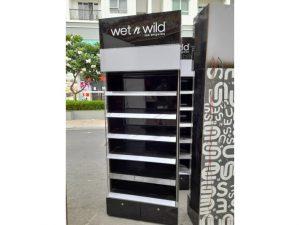 Thanh lý tủ trưng bày đen viền trắng cũ giá rẻ